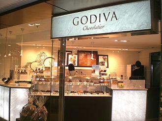 Godiva Chocolatier - Image: HK Kln Bay Telford Plaza GODIVA Chocolatier a