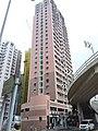 HK Mid-levels 薄扶林道 Pokfulam Road 景輝大廈 Kingsfield Tower facade n bridge flyover January 2019 SSG.jpg