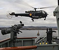 HMCS Summerside conducts a HOISTEX with Belgian ship BNS Godetia's SA-316B (Alouette-3) helicopter TJ15 (22640636401).jpg