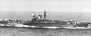 Sunda Straits Crisis - HMS ''Victorious'' underway in the Pacific in 1964.