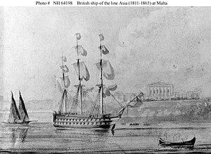 HMS Asia (1811) - Image: HMS asia (1811)