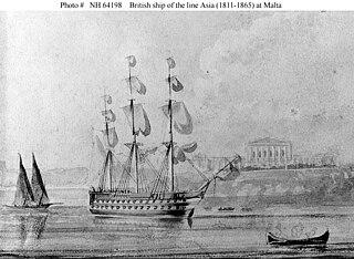 HMS <i>Asia</i> (1811) Vengeur-class ship of the line