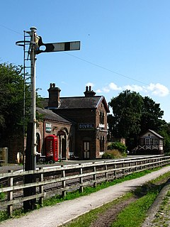 Hadlow Road railway station Former railway station on the Birkenhead Railway in Cheshire, England