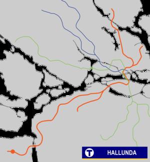 Hallunda metro station - Image: Hallunda Tunnelbana