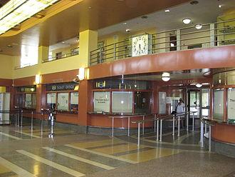 Hunter Street (Hamilton, Ontario) - Hamilton GO Transit station, lobby area