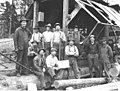 Hamilton Logging Company piledriver bridge crew, responsible for building second Red Cabin Creek Bridge, 1916 (KINSEY 284).jpeg