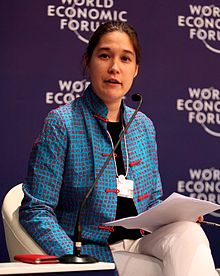 Photograph of Hannah Beach at the World Economic Forum on East Asia in 2012