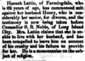 Hannah and Henry K. Lattin (1806-1894) in the Queens County Sentinel on August 1, 1878.png