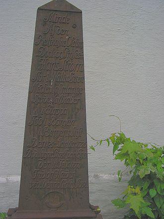 Hans Strøm - Image: Hans Strøm minne d 3507m