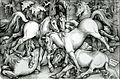 Hans Baldung Grien, Kämpfende Hengste, 1534.jpg
