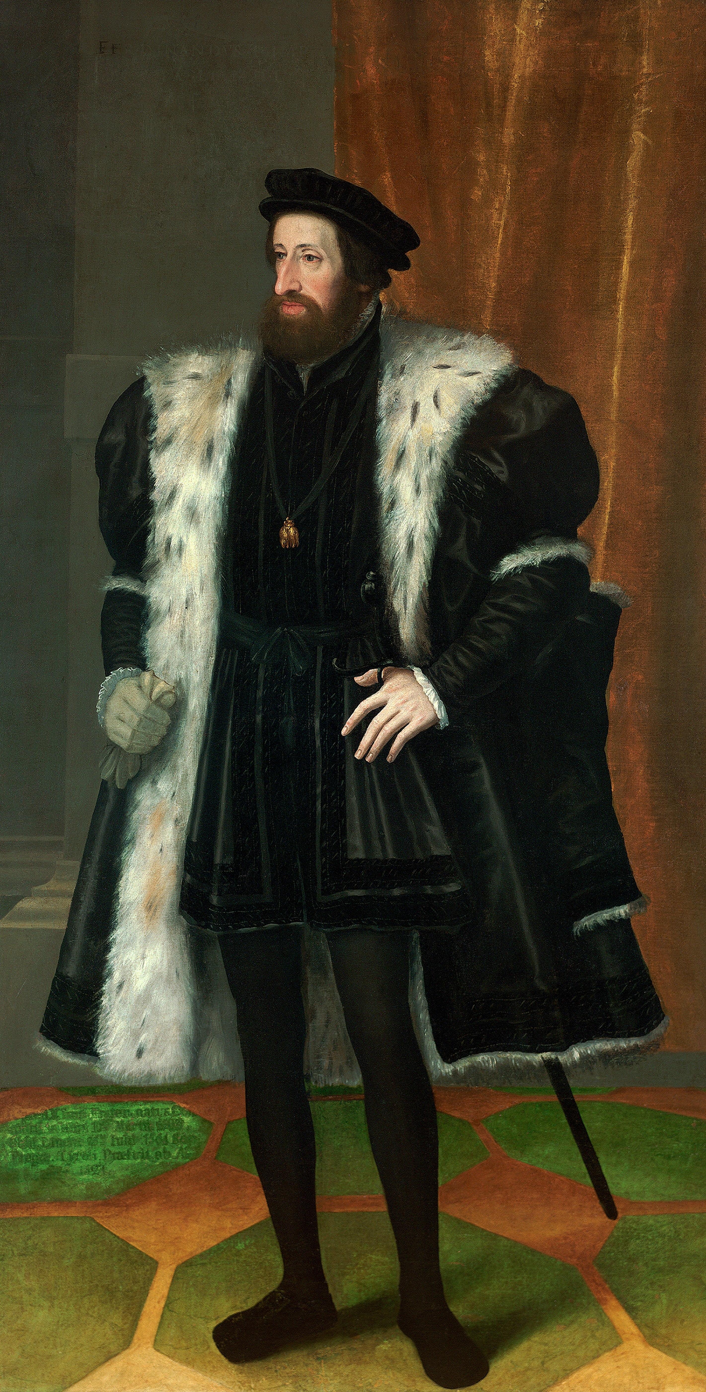 El emperador Fernando I, retratado por Hans Bocksberger el Viejo