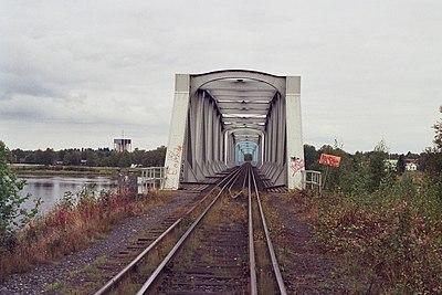 Järnvägsbron, enda förbindelsen med järnväg mellan Sverige och Finland