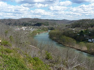 Beattyville, Kentucky - View of Beattyville from Happy Top Park