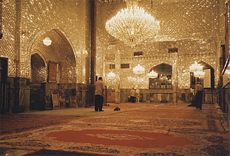 Imamzadeh - The interiors of many Imamzadehs are covered with mirrors to create a brilliant display of light.