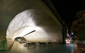 Milsons Point, New South Wales - Access stairs and underpass tunnel for the Sydney Harbour Bridge, Milsons Point