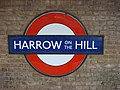 Harrow-on-the-Hill station roundel.jpg