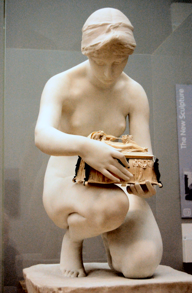 File:Harry Bates - Pandora, 1891, front - on temporary display at Tate Britain, August 2010.png