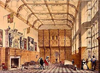 Hatfield House - The great hall in 1840