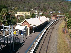 Hawkesbury River railway station - Southbound view