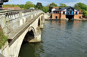 Henley on Thames Bridge with Boat House