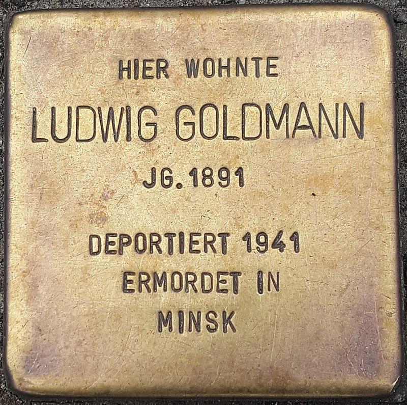 Hennigsdorf Stolpersteine Waldstrasse 40 - Ludwig Goldmann.jpg