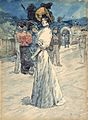 Henri Somm, A Parisienne Outside the Moulin de la Galette.jpg