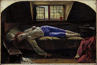 Thomas Chatterton - Image: Henry Wallis Chatterton Google Art Project