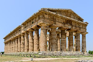 Italy - Hera Temple in Paestum, among the world's largest and best-preserved Doric temples