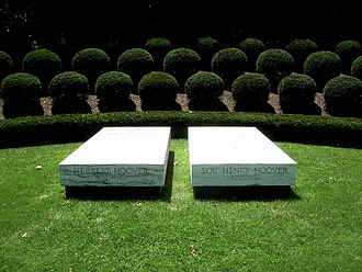 Herbert Hoover National Historic Site - The gravesite of Hoover and Lou Henry Hoover