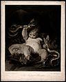 Hercules. Mezzotint by W. Ward after Sir J. Reynolds. Wellcome V0035857.jpg