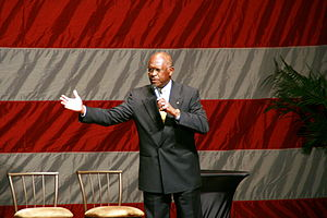 300px Herman Cain at Hannity   Boortz event 1 Donna Donella Fifth Woman to Raise Questions Over Herman Cains Behavior