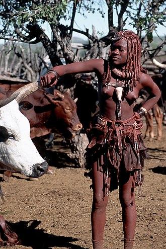 Himba people - Himba girl at work