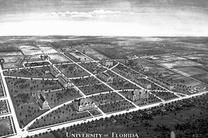 University of Florida - The University of Florida campus in 1916, looking southwest.