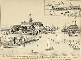 Rockaway Beach In The 1880s With New Railroad And Resort Hotel