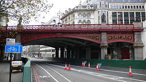 Holborn Viaduct - Holborn Viaduct pictured in 2005.