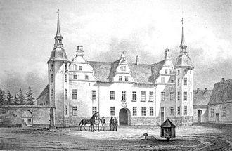 Holsteinborg Castle - Holsteinborg in 1860