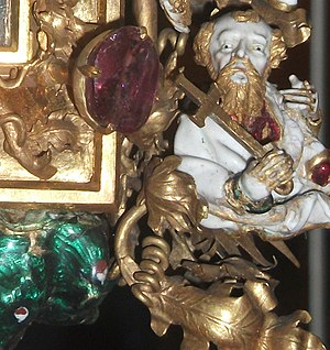 Holy Thorn Reliquary - Detail of one of the Apostles (over actual size)