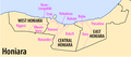 Honiara wards - crop of Map Administrative Divisions of Guadalcanal (Solomon Islands).png