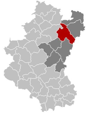 Houffalize - Image: Houffalize Luxembourg Belgium Map