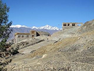 Nang, Leh village in Jammu and Kashmir, India