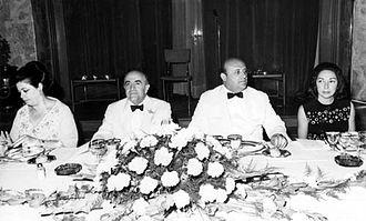 Süleyman Demirel - Amir-Abbas Hoveida, prime minister of Iran and Demirel, c. 1970