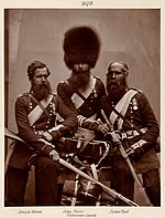 Hughes & Mullins after Cundall & Howlett - Heroes of the Crimean War - Joseph Numa, John Potter, and James Deal of the Coldstream Guards.jpg