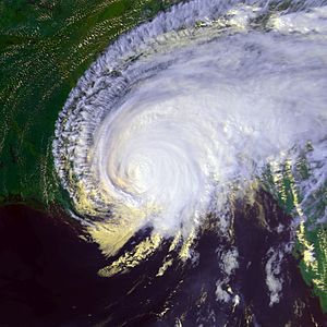 Hurricane Georges - Georges making landfall in Biloxi, Mississippi