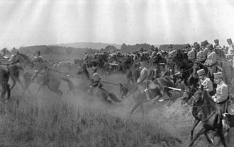 German Army (German Empire) - German Army hussars on the attack during maneuvers, 1912.