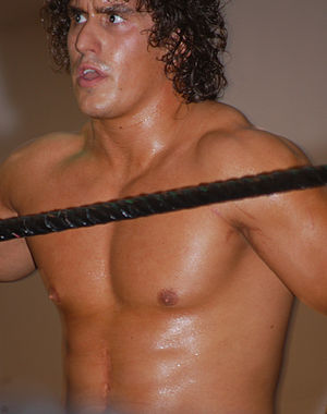 Ethan Carter III - Hutter (then known as Derrick Bateman) in 2010 wrestling in FCW