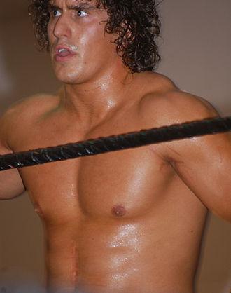 Ethan Carter III - Derrick Bateman at a FCW event in 2010