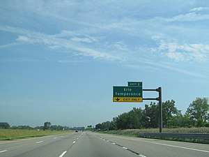 Interstate 75 in Michigan - Image: I 75 exit 2 Michigan