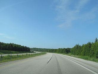 Interstate 75 in Michigan - North of St. Ignace
