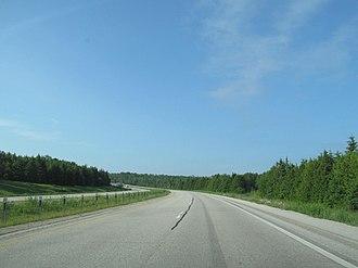 Interstate 75 in Michigan - North of St. Ignace