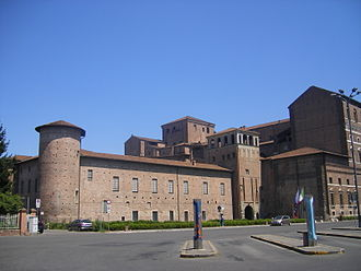 Palazzo Farnese, Piacenza - The older remaining part of Palazzo Farnese still shaped as fortress.